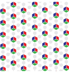 RGB Colored 3D Cube patterned background vector image