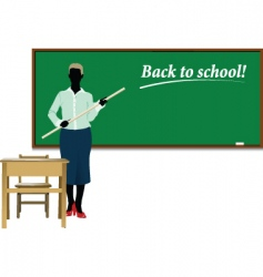 teacher back to school vector image