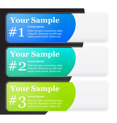 1-2-3 numbered banner templates vector image