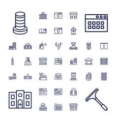37 window icons vector image