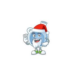 a picture santa blue potion mascot picture vector image