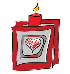 A red candle stick or color vector