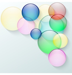 abstract background with color glass circles vector image