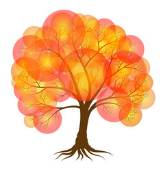 Abstract tree covered with autumn foliage in the vector