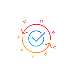 Approved line icon accepted or confirmed sign vector