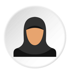 Arabic woman icon circle vector