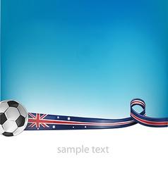 Australian flag with soccer ball vector