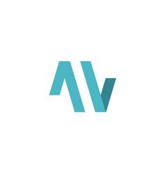 av mw letter logo icon vector image