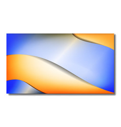 background in blue and orange gradient color vector image