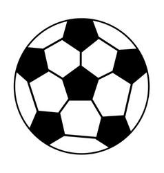 ball soccer sport equipment outline vector image