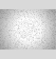 binary code white background big data vector image