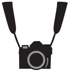 Black camera vector