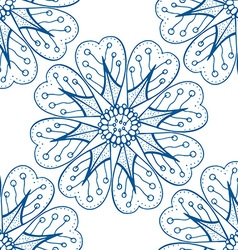 Blue Seamless Floral Pattern vector