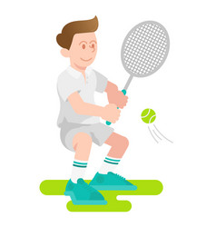 boy play a tennis vector image