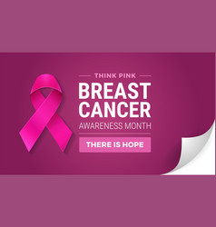 breast cancer awareness month in october turn vector image