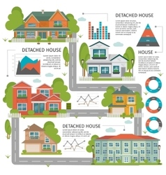Buildings Flat Infographics vector
