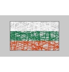 Bulgaria flag design concept vector image