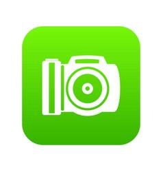 camera icon digital green vector image
