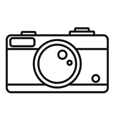 camera icon outline style vector image