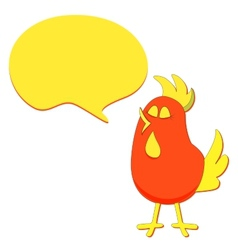 Cartoon Bird with Speech Bubble vector image