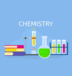 Chemistry lesson concept background flat style vector