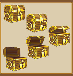 chest set for game interface vector image