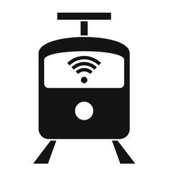 City train wifi icon simple style vector