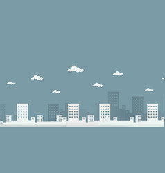 cityscape with clouds in paper origami style vector image