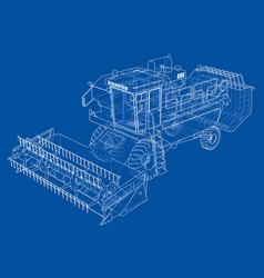 Concept combine-harvester rendering of 3d vector
