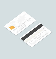 Credit cards isometric set vector