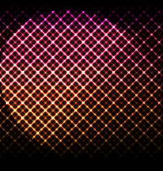 digital glowing background hi-tech pink and vector image
