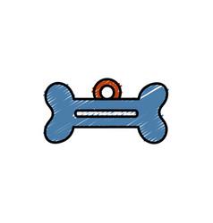 Dog bone tag icon vector