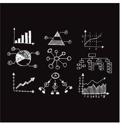 doodle graph icon design vector image