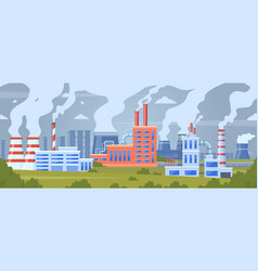 factory air pollution industrial smog pollution vector image
