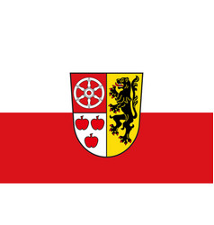 Flag of weimarer in thuringia in germany vector