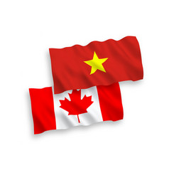 Flags canada and vietnam on a white background vector