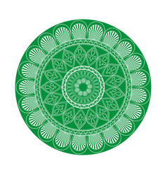 green mandala ethnic oriental decoration vector image
