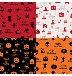Halloween patterns vector