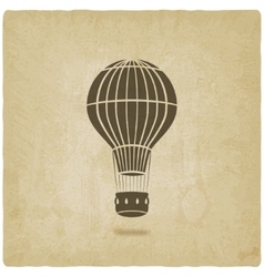 Hot air balloon old background vector