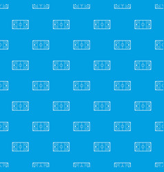 ice hockey rink pattern seamless blue vector image