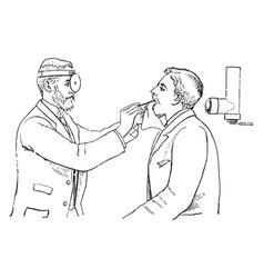 Laryngoscope vintage vector