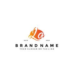 Letter la logo design vector