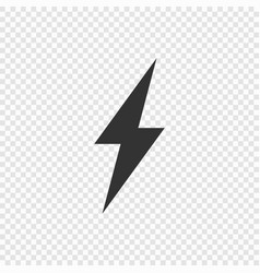 lightning or electric power icon vector image