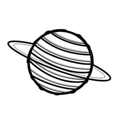 Line exploration uranus planet in galaxy space vector