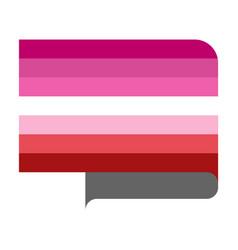 Lipstick lesbian flag vector