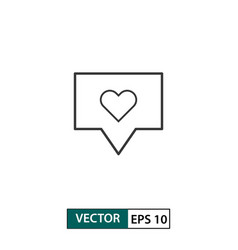 love comment icon outline style isolated on white vector image