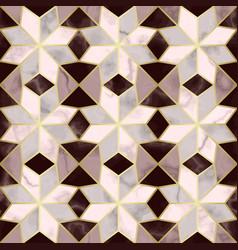 Luxury marble mosaic star tile seamless pattern vector