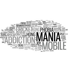 Mania word cloud concept vector