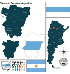 Map of tucuman province argentina vector