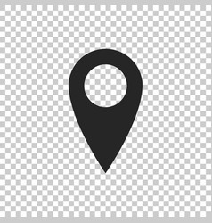 map pin icon isolated on transparent background vector image